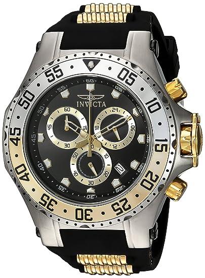 Amazon.com: Invicta Mens Pro Diver Stainless Steel Quartz Watch with Polyurethane Strap, Black, 32 (Model: 21832: Invicta: Watches