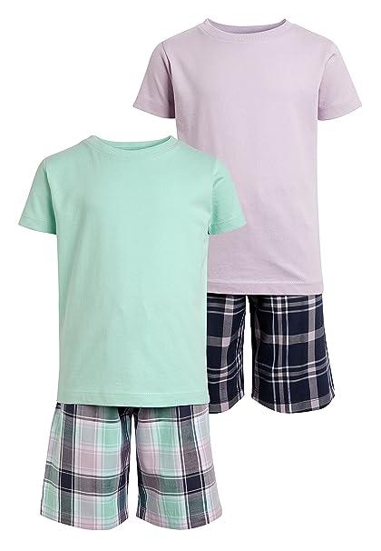next Niños Pack De Dos Pijamas Tejidos De Cuadros (3-16 Años) Lila 11 años: Amazon.es: Ropa y accesorios