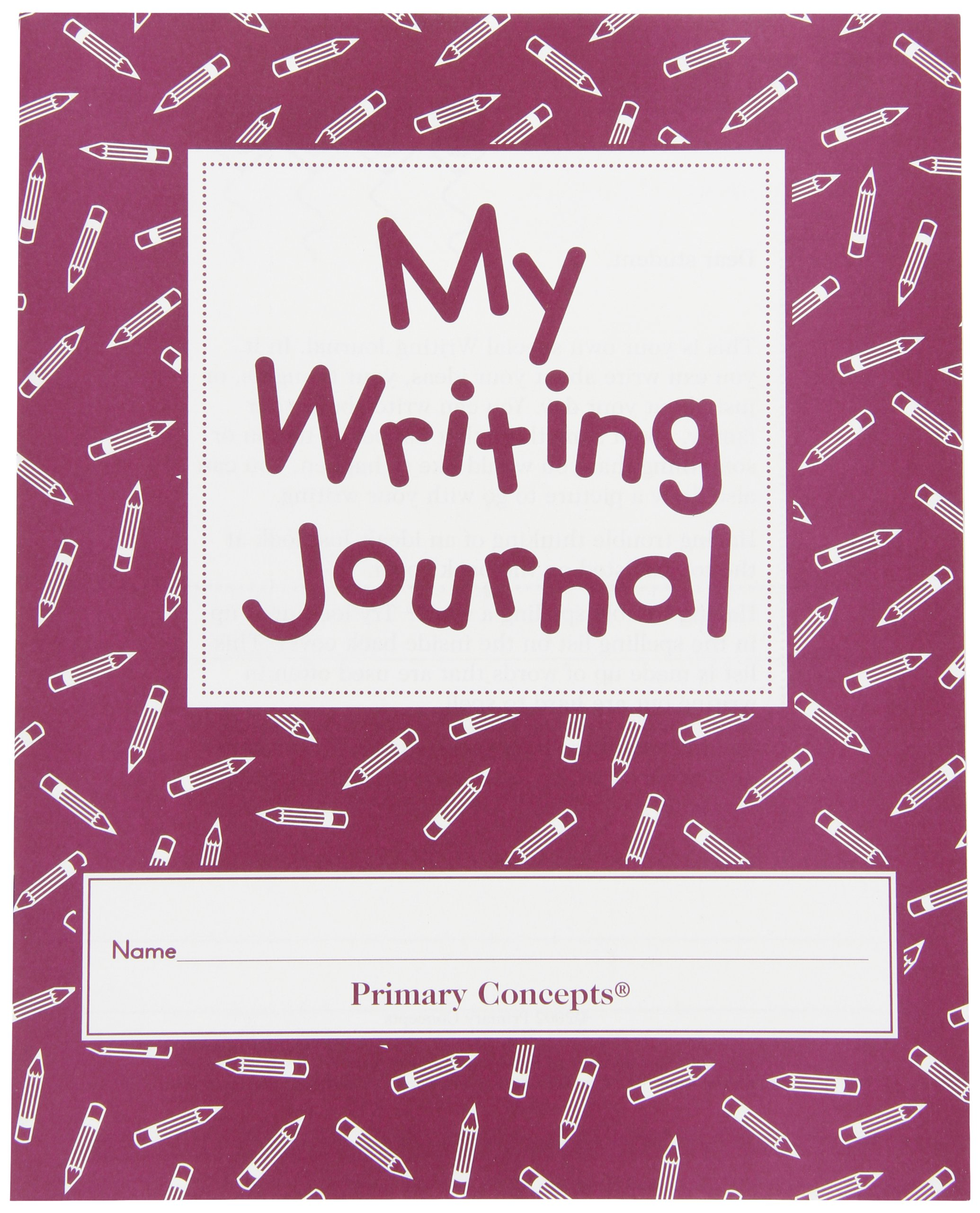 Primary Concepts My Writing Journal - 30 Pages - Set of 20