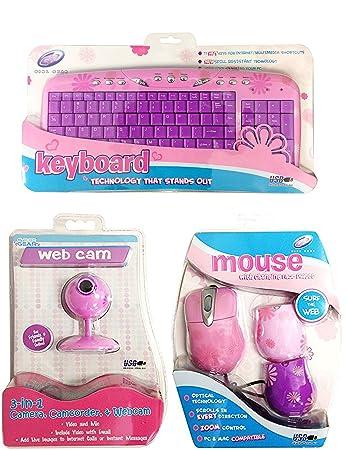 3ffcf18359b Sakar Girly Pink Daisy Keyboard , Mouse and Webcam Set ( Bundle - 3 items )