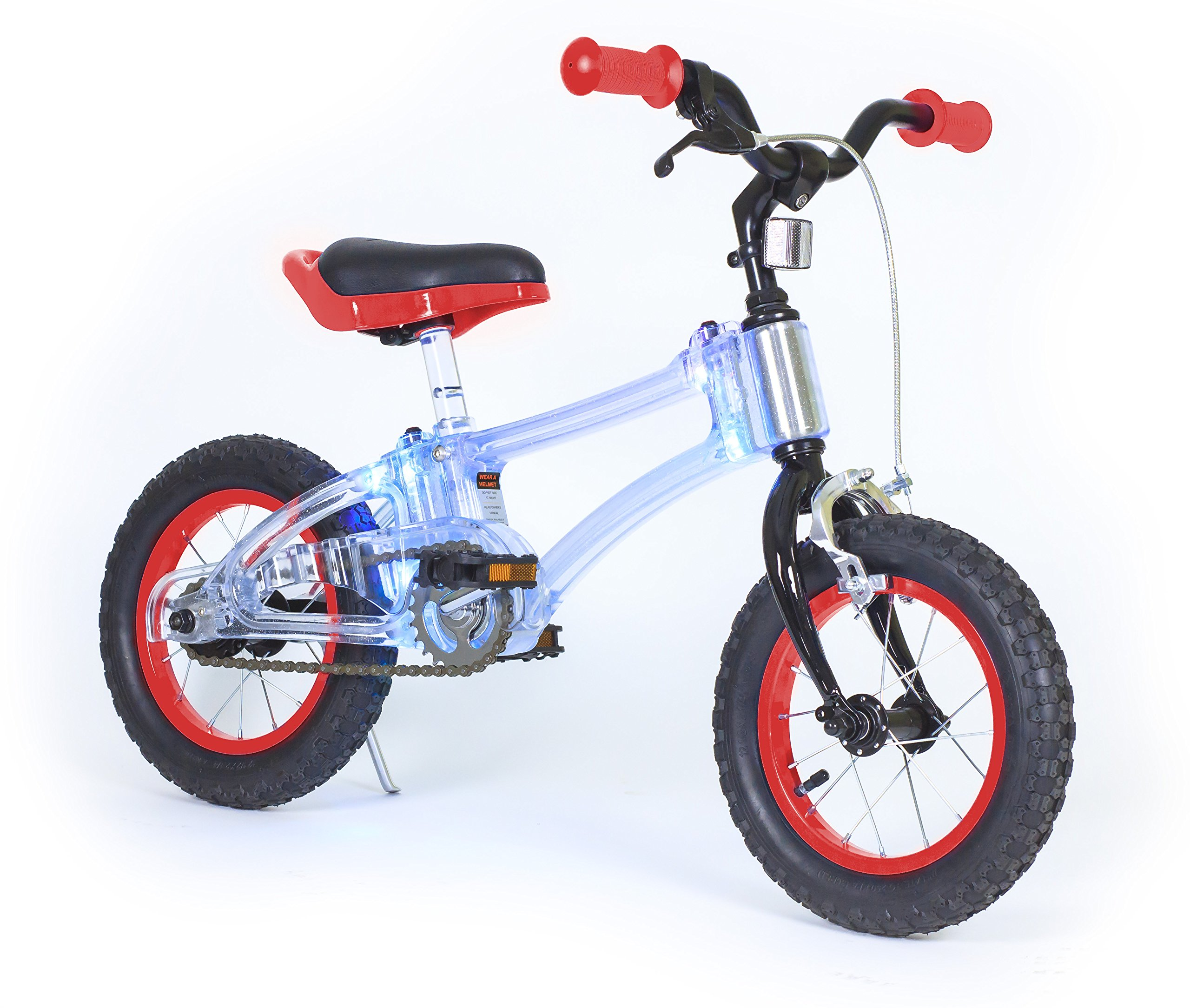 Phantom Pedal Bike with Red Flashing Lights, 12'' by Phantom