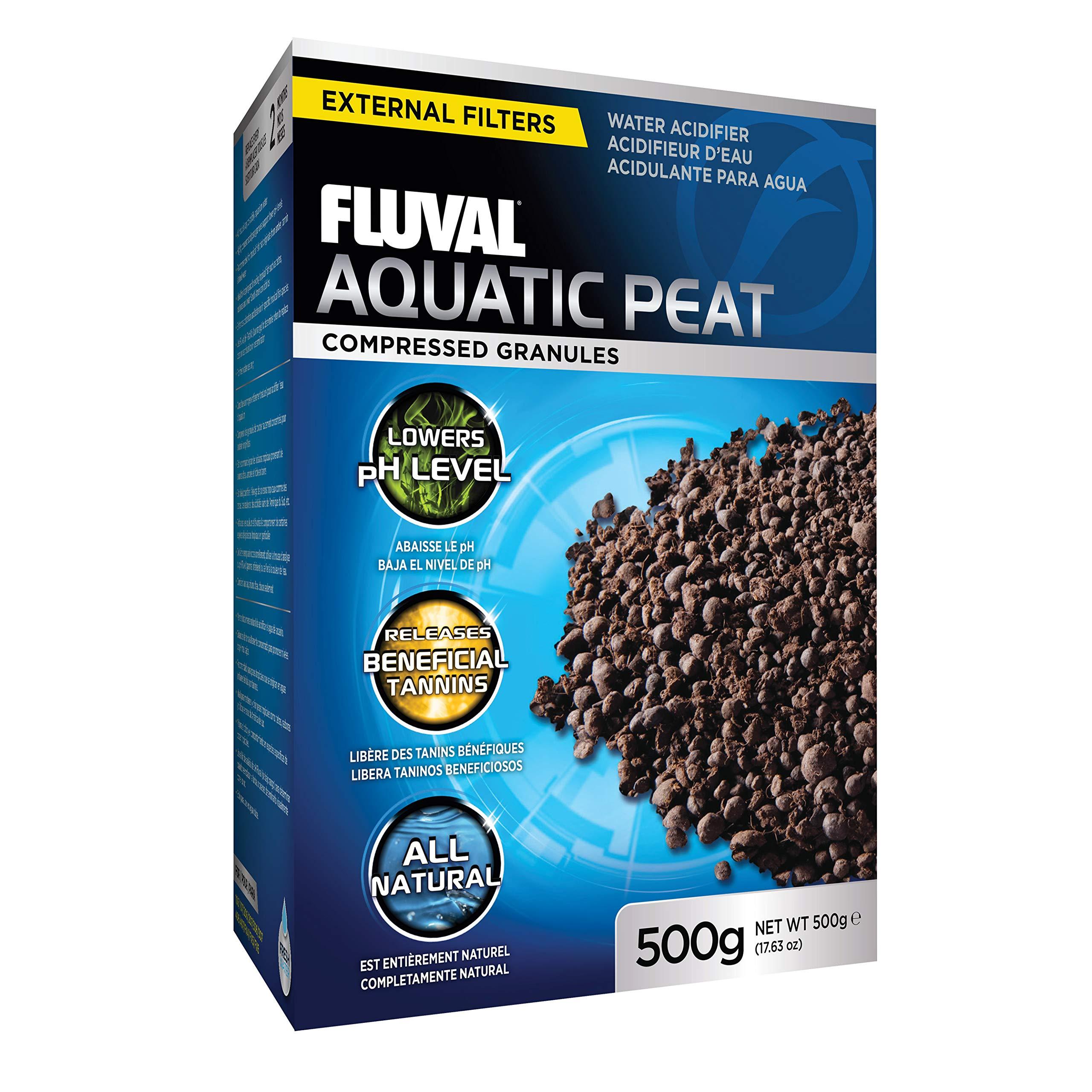Fluval Aquatic Peat Granules, Chemical Filter Media for Freshwater Aquariums, Water Softener, 17.6 oz., A1465