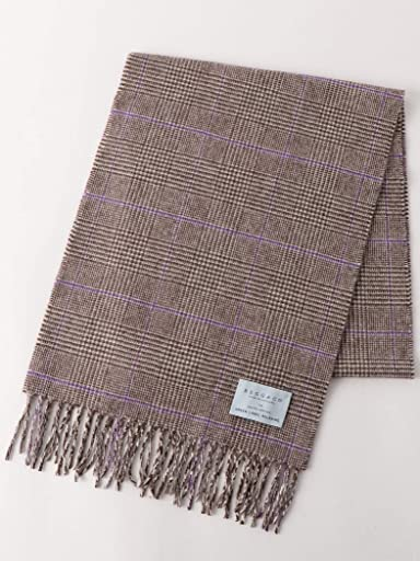 Green Label Relaxing Wool Angora Scarf 3236-499-0907: Dark Brown