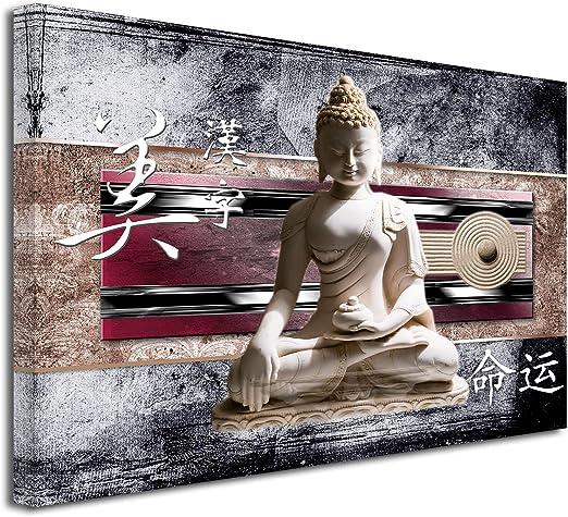 DECLINA Tableau Deco Zen Bouddha ET Japon imprimée - Impression sur Toile  décoration Murale Zen - Déco Maison, Cuisine, Salon, Chambre Adulte -  Violet ...