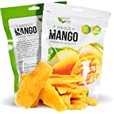 Paradise Green Dried Mango 28oz Sweet Dehydrated Thai Bulk Mangoes Sun Dried In Nature (8 bags X 3.5 oz) (1 Pack)