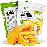 Paradise Green Dried Mango 28oz Sweet Dehydrated Thai Bulk Mangoes Sun Dried In Nature (8 bags X 3.5 oz) (1 Pack)
