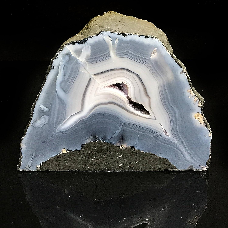 nessun minimo Astro Gallery Gallery Gallery Of Gems Blu pizzo agata ametista geode – BLA3  economico e alla moda