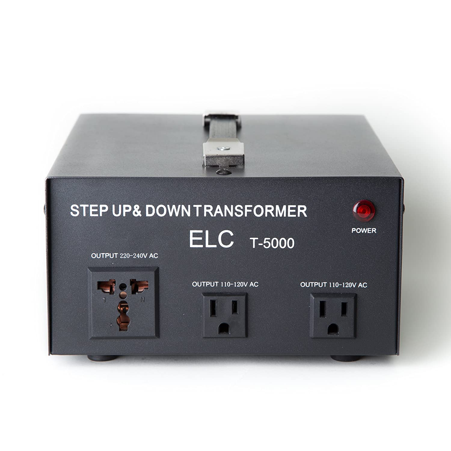 ELC T-5000 5000-Watt Voltage Converter Transformer - Step Up/Down - 110V/220V - Circuit Breaker Protection
