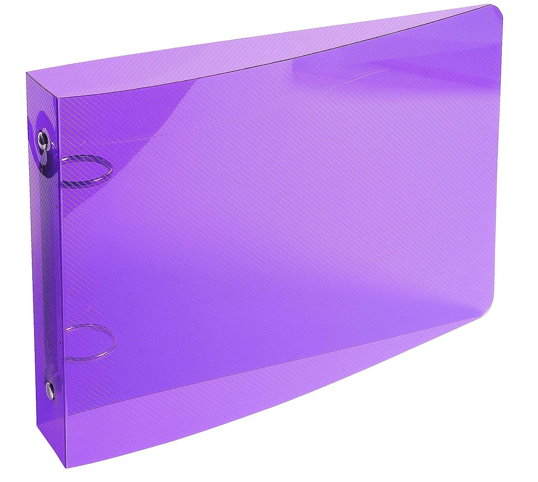 Classeur pour Fiches Bristol 125x200 2 Anneaux 25mm Polypropylene Crystal Colours