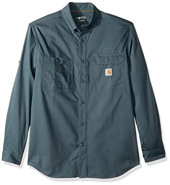 c5e62d997b Amazon.com  Carhartt Men s Force Ridgefield Solid Long Sleeve Shirt   Clothing