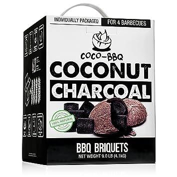coco-bbq Eco-friendly hecho de carbón de barbacoa de cáscara de coco para
