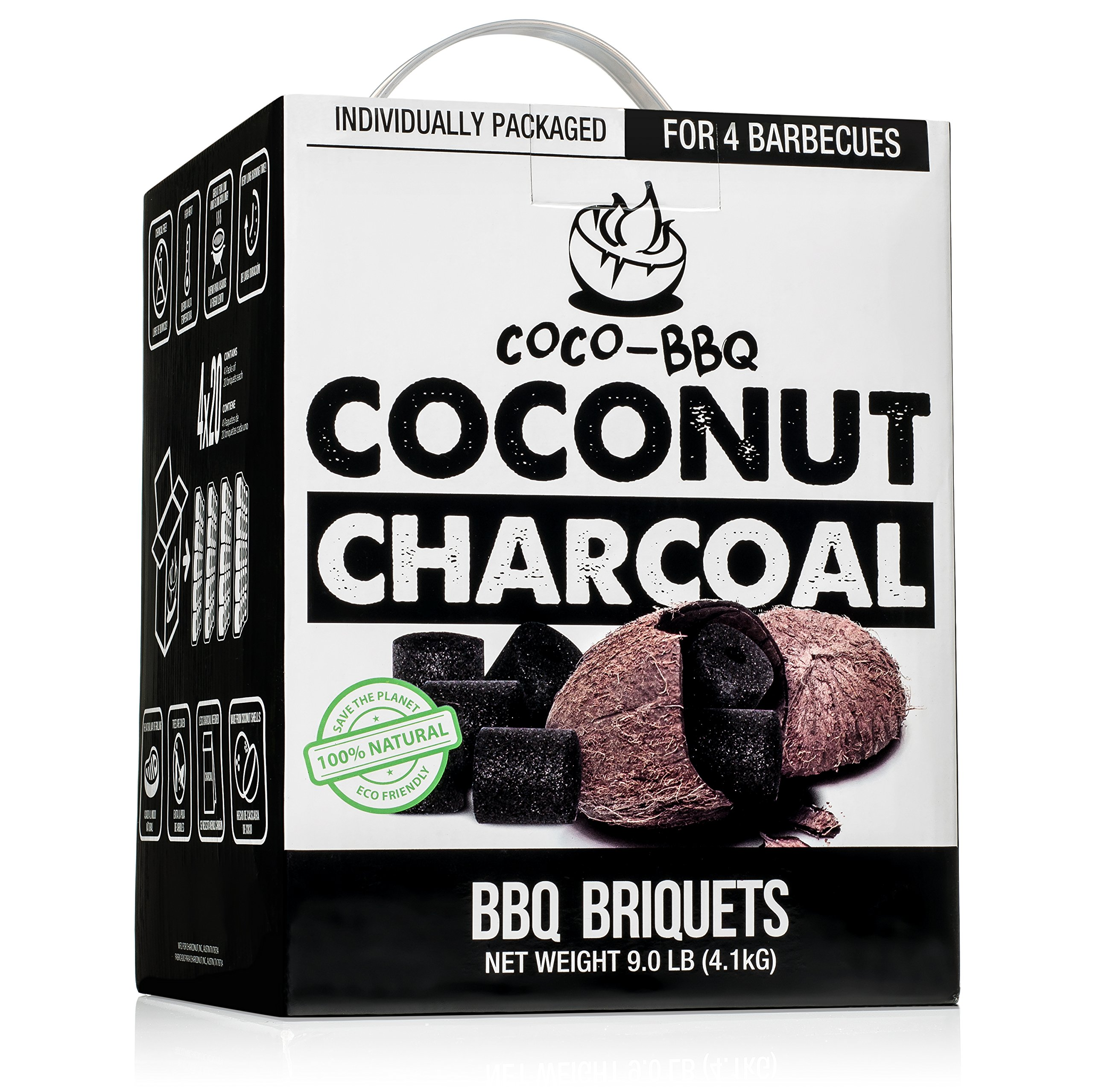 COCO-BBQ Eco-Friendly Barbecue Charcoal Made from Coconut Shells for Low and Slow Grilling by COCO-BBQ (Image #1)