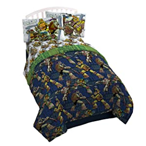 Nickelodeon Teenage Mutant Ninja Turtles 'Stomp Foot' Super Soft Microfiber Twin 3 Piece Sheet Set
