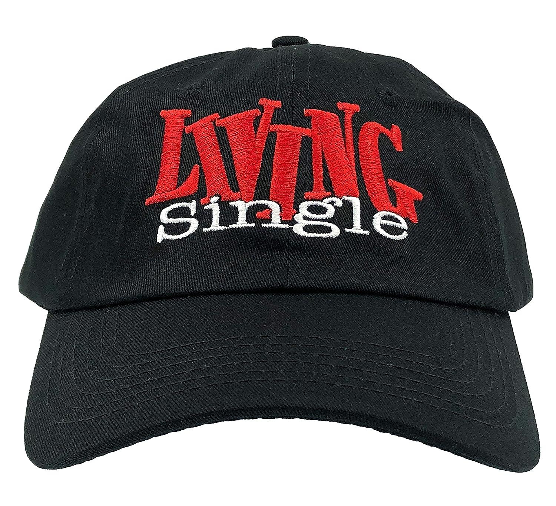 b39022c49ef Amazon.com  Drumsyb Living Single Hat Tv Show Hat Dad Hat 90s Baseball Cap  Embroidered Adjustable (Black)  Clothing