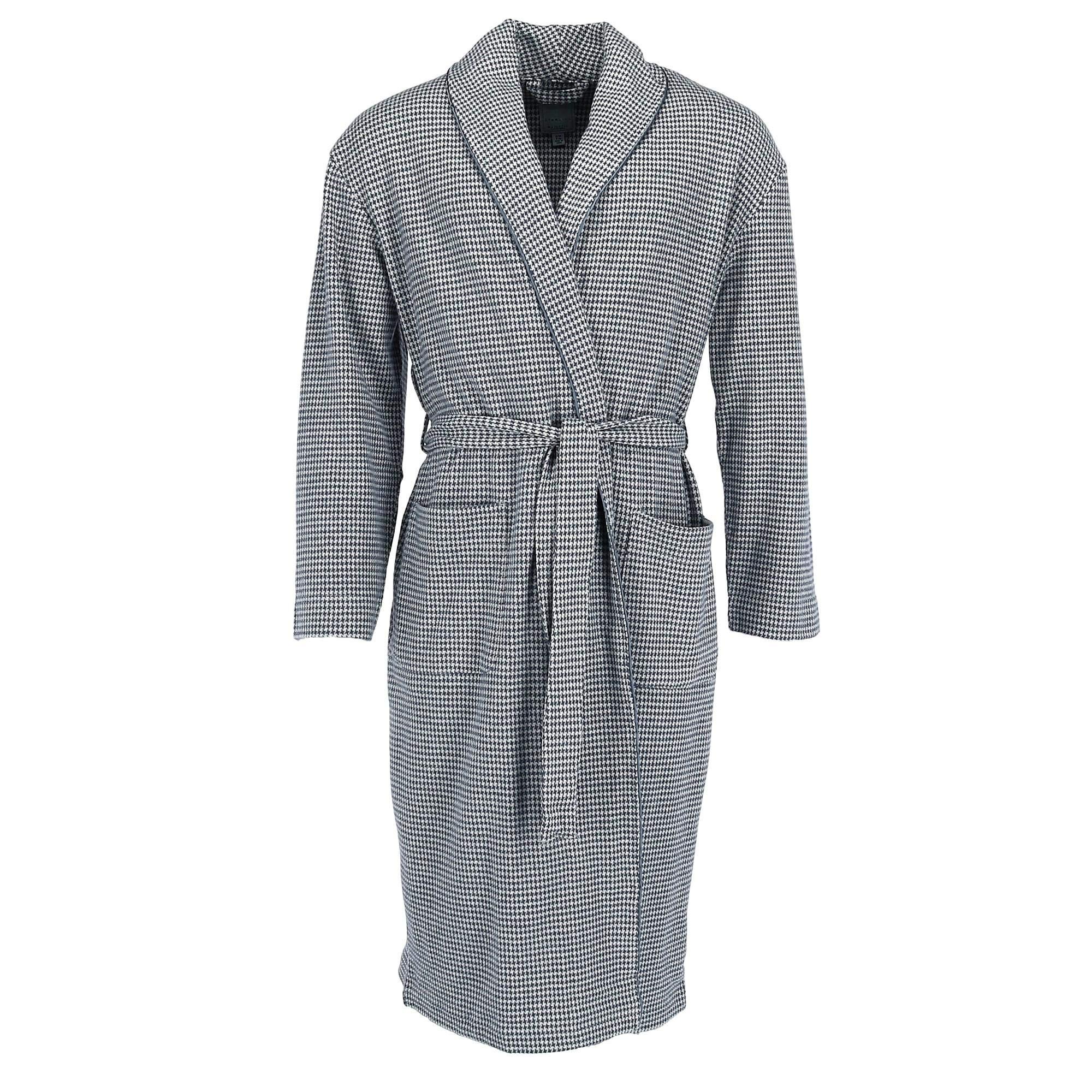 Majestic International Men's Big and Tall Micro Fleece Robe, LT/XLT, Grey