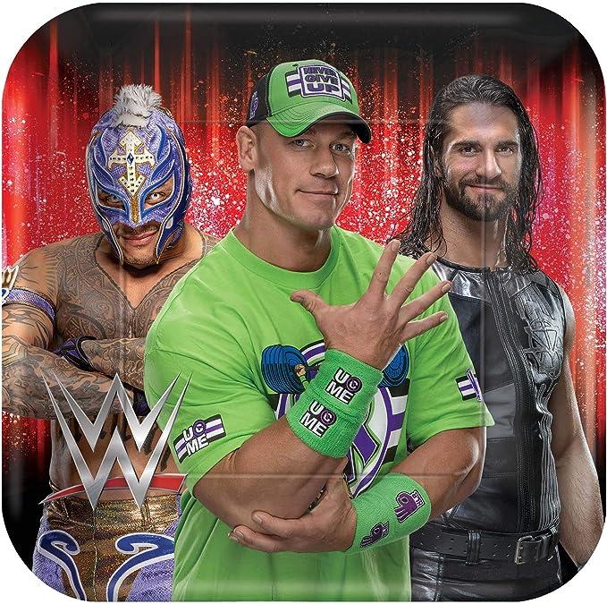 WWE HAPPY BIRTHDAY party hanging HONEYCOMB decorations WRESTLING Cena Rock 3pcs