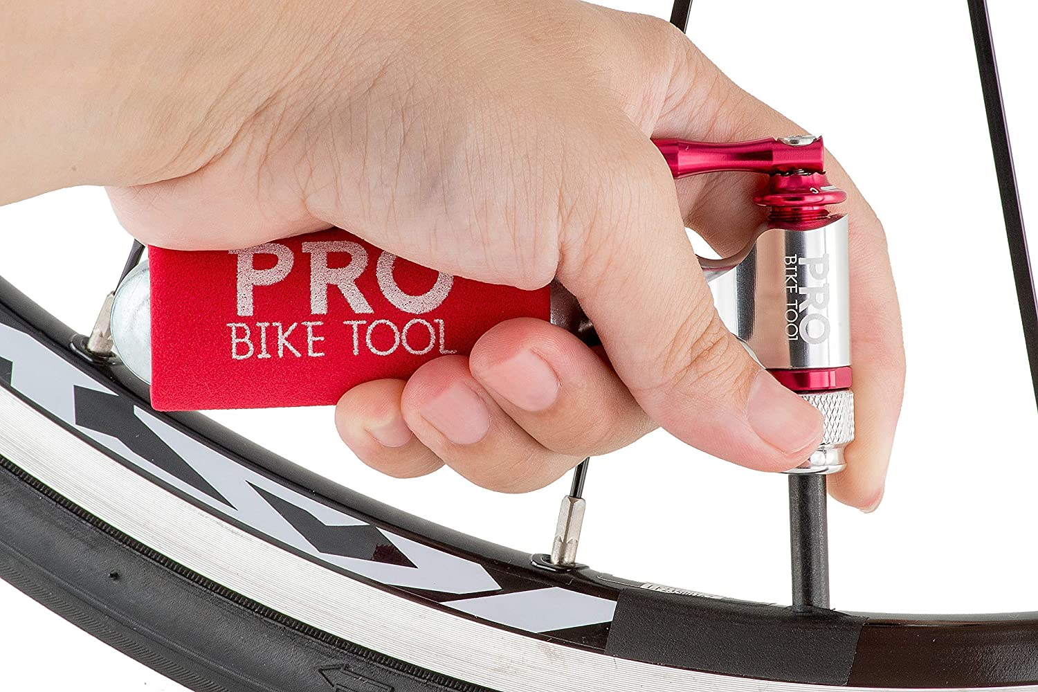 PRO BIKE TOOL CO2 Inflator for Road or Mountain Bikes Bicycle Tire Lever 3 Pack Bundle