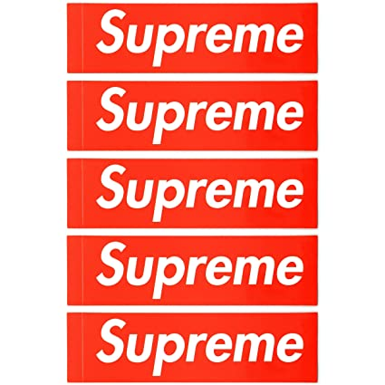 Supreme box logo vinyl gloss stickers 2 2 x 8 indoor outdoor uv protection