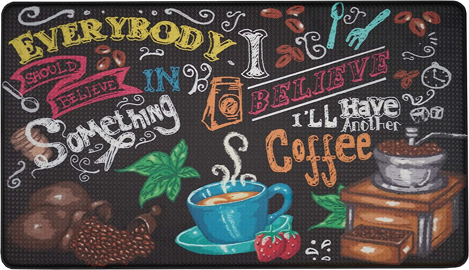 """Artistic Anti Fatigue Kitchen Floor mat. Kitchen Floor mats for in Front of Sink. Cushioned Kitchen mat. Padded Kitchen Floor mats. Foam Kitchen mats for Floor. Memory Foam mat. 30"""" x 18"""""""