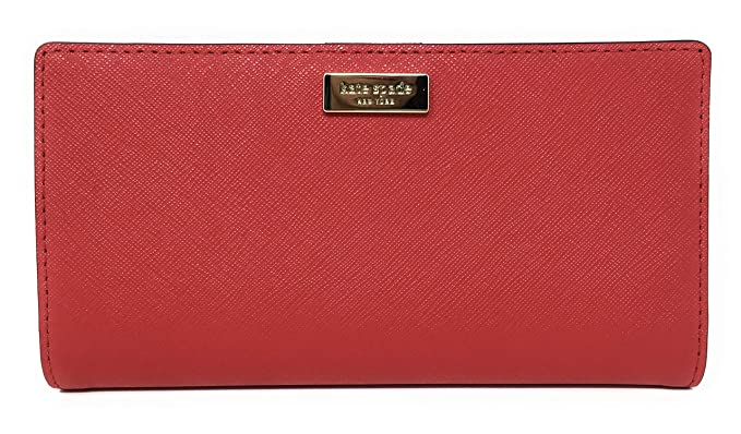 e0dc00026ec6 Kate Spade New York Laurel Way Stacy Leather Wallet (Hot Chili Red ...
