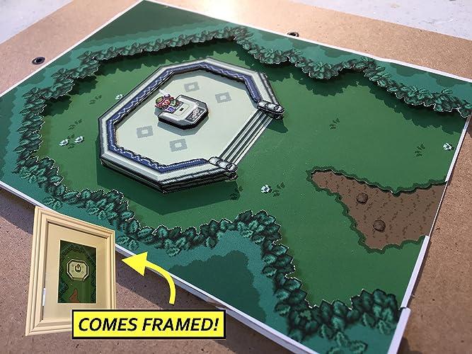 Amazon com: Legend Of Zelda: A Link To The Past Diorama