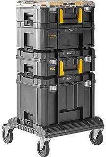 Stanley Fatmax - Sistema modular de almacenamiento (4 cajas para herramientas + plataforma con ruedas