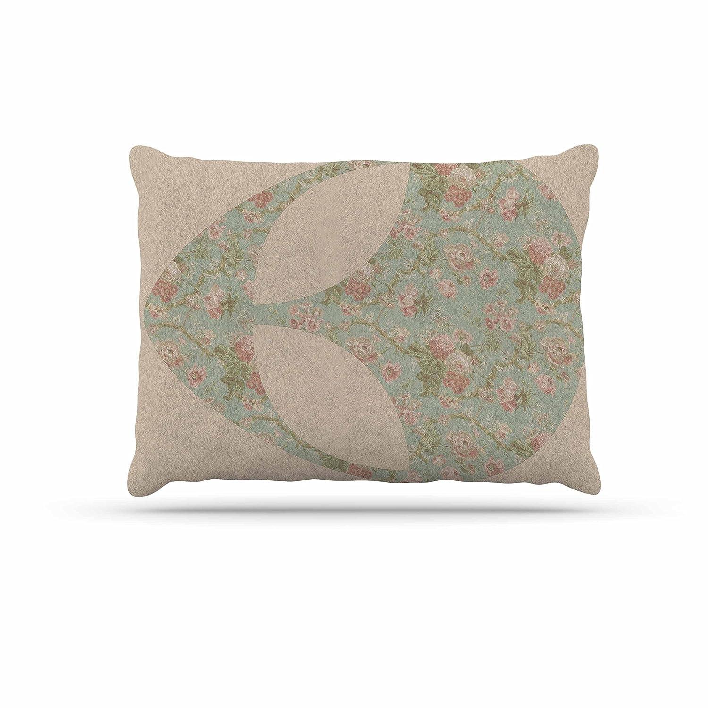 KESS InHouse Alias Floral Alien Pink Teal Dog Bed, 30  x 40