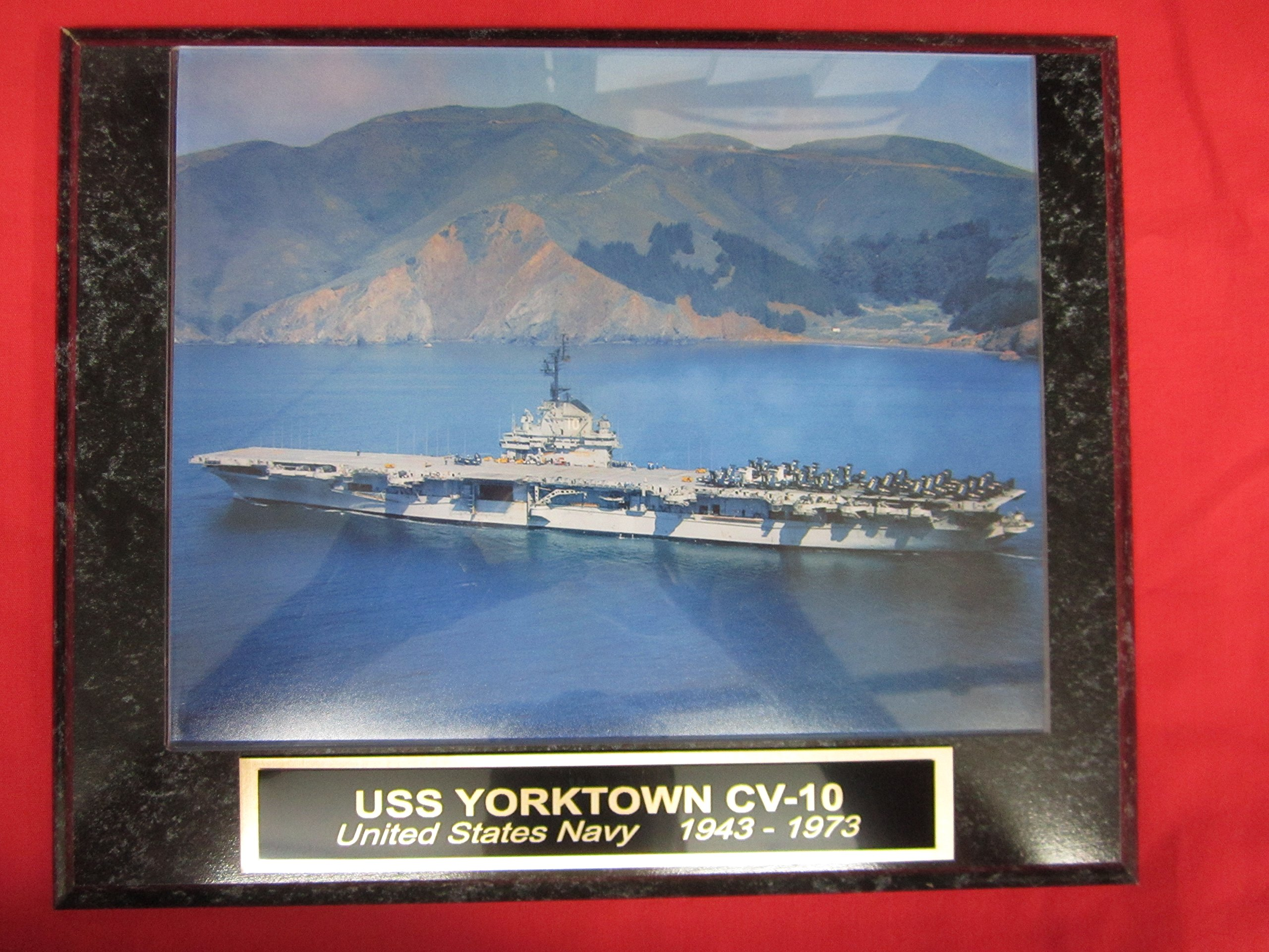 US Navy USS YORKTOWN CV 10 Collector Plaque w/8x10 Photo!