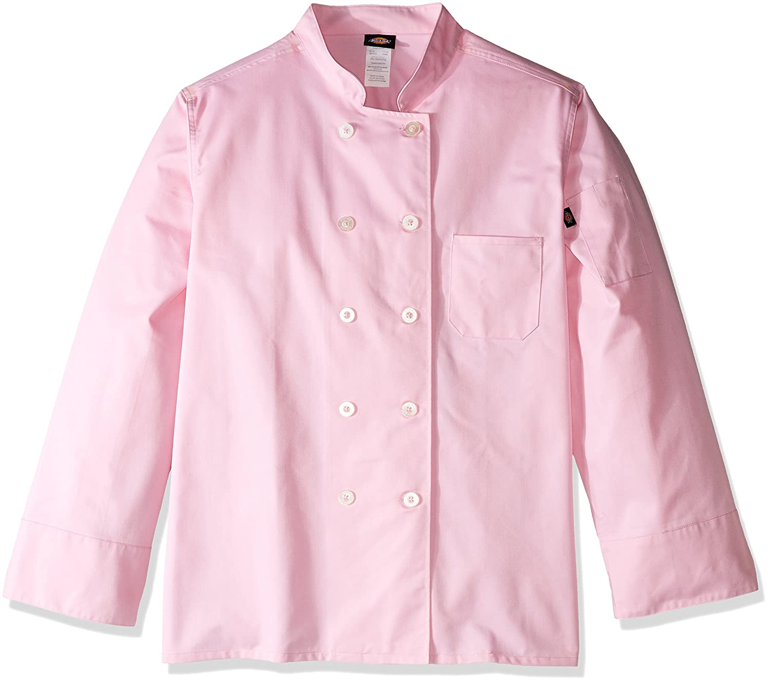 Dickies Chef Womens Classic Coat Plus Size XX-Large Pink