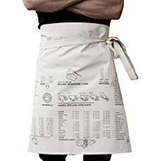 Waist Apron Printed with Cooking Guide by SUCK UK