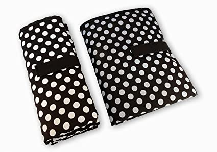 Black with White Polka Dots Baby Changing Mat Black with White Dots