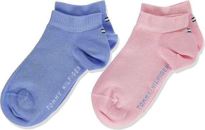 Tommy Hilfiger TH CHILDREN SNEAKER 2P Calcetines cortos, Multicolor (Orchid Pink 146), 23-26 (Pack de 2) para Niñas: Amazon.es: Ropa y accesorios