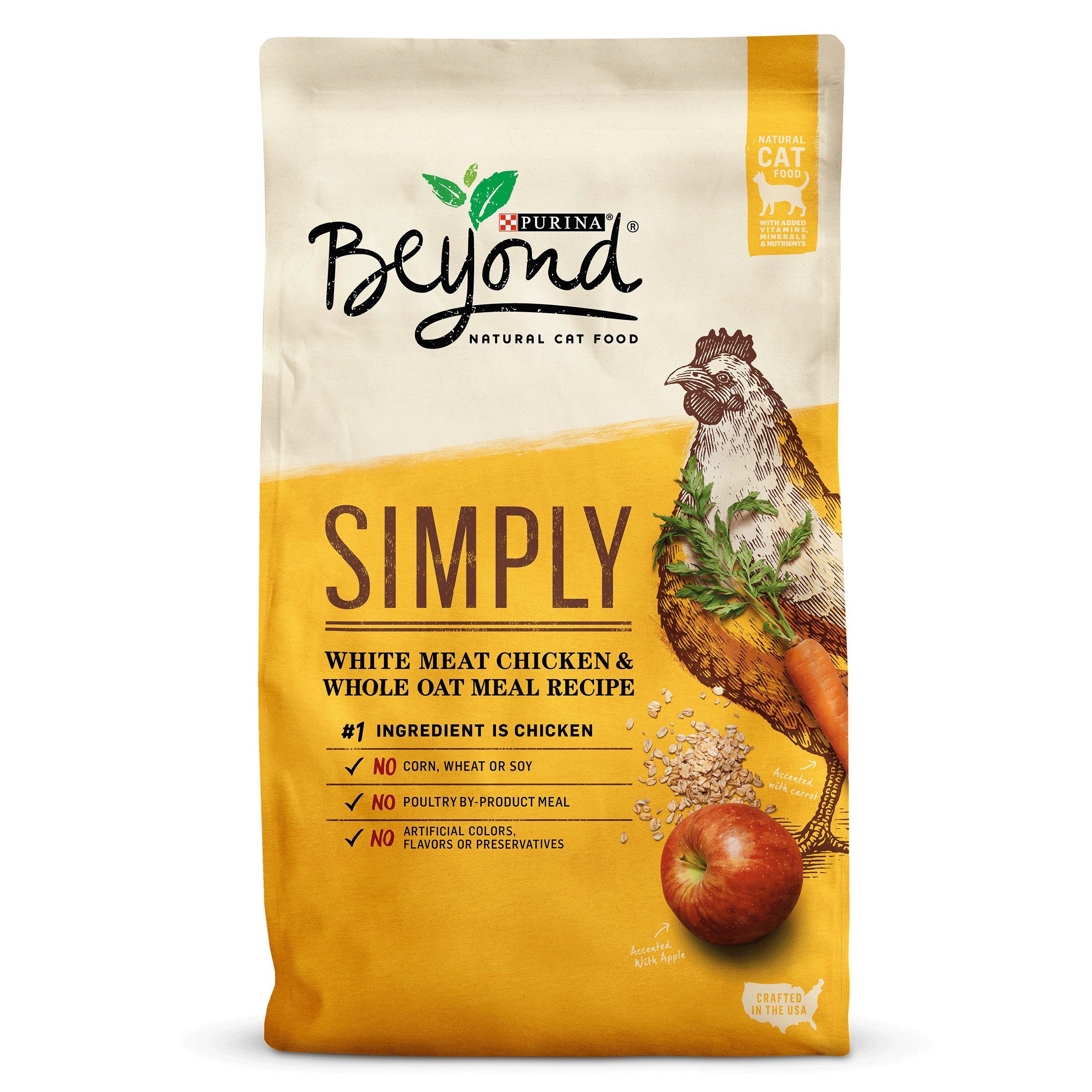 Purina Beyond Simply White Meat Chicken & Whole Oat Meal Recipe Adult Dry Cat Food - 13 lb. Bag