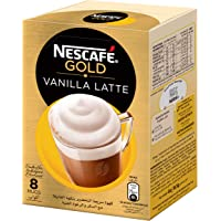 NESCAFE GOLD VANILLA Latte Instant Foaming Coffee Mix Sachet 18.5g(8 Sachets)