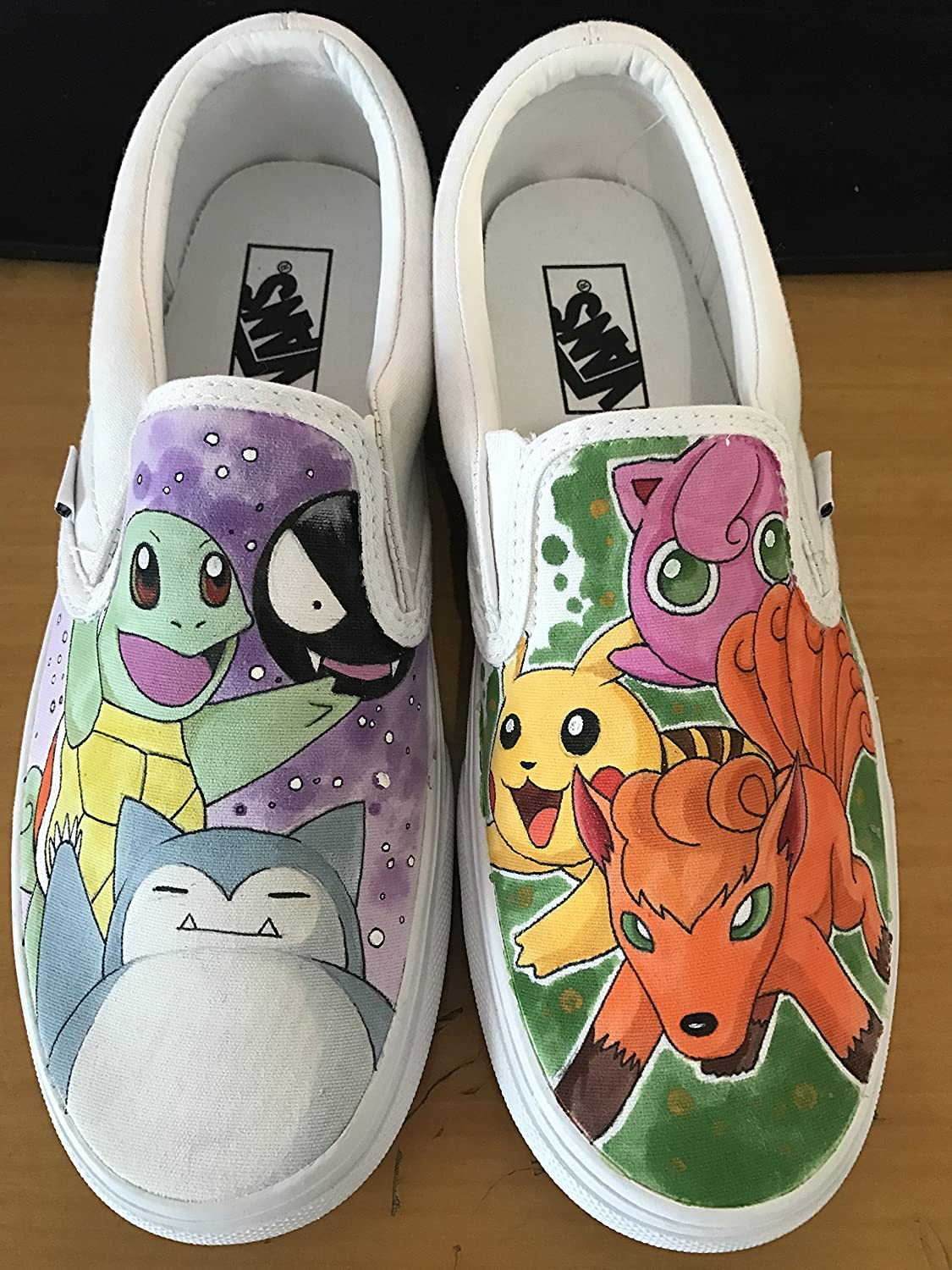 Adult hand painted Pokemon shoes