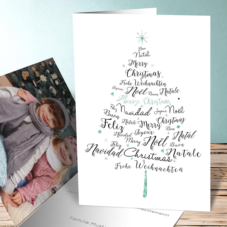 Bezaubernd Edle Weihnachtskarten Basteln Beste Wahl Weihnachten Karten Basteln, Sprachenbaum 5 Karten, Vertikale