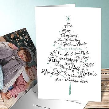 Designer Weihnachtskarten De.Designer Weihnachtskarten Sprachenbaum 150 Karten Vertikale