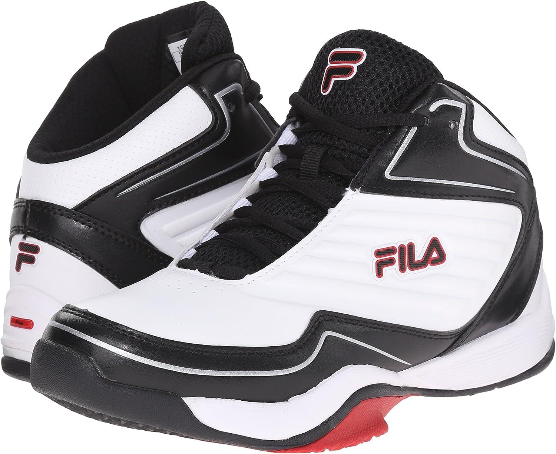Fila - Zapatillas de Baloncesto para Hombre, Blanco (Blanco/Negro ...