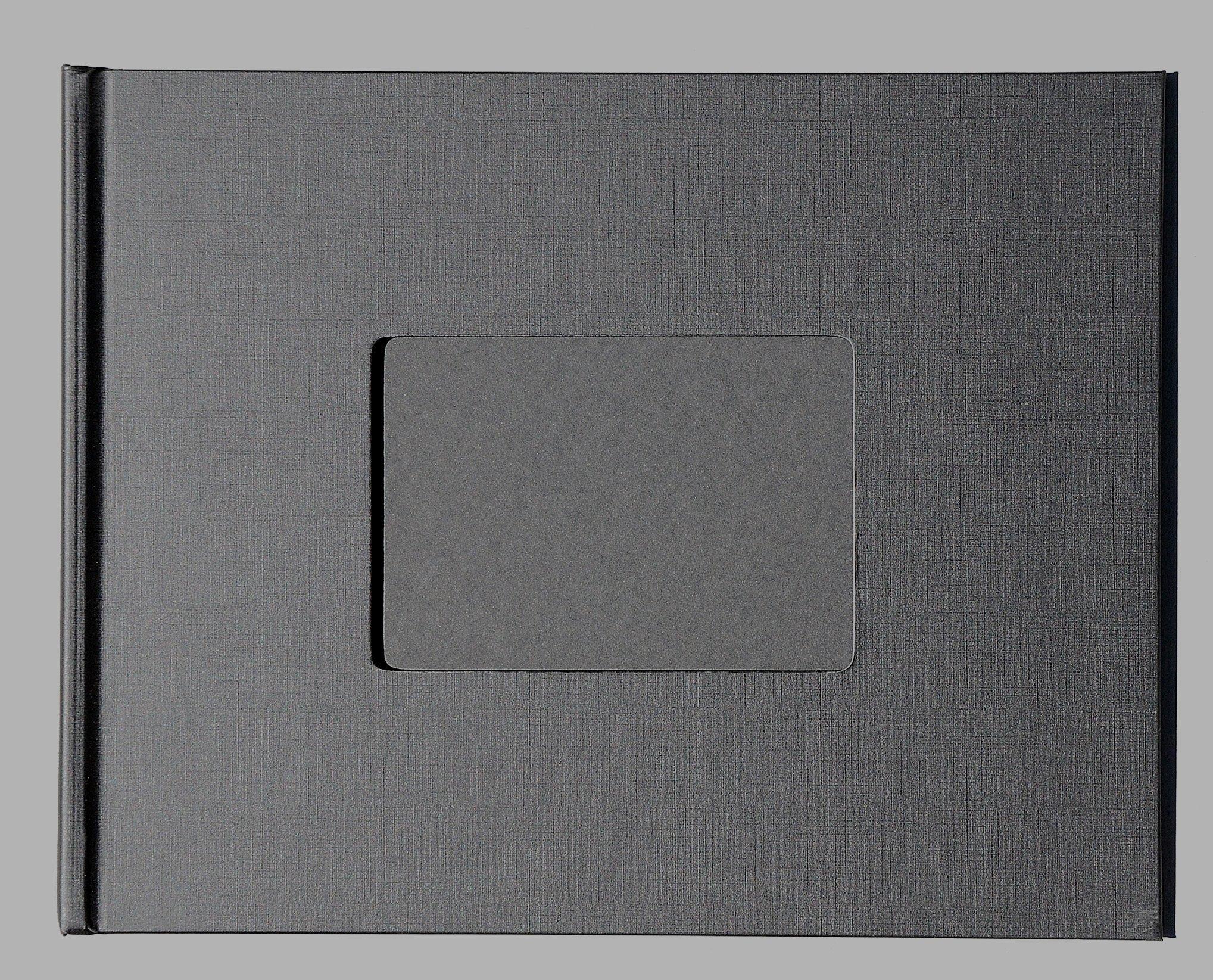 "Unibind 259FD8BA7HH 7mm Black Linen 8.5"" x 11"" Photobook - 10 Pack"