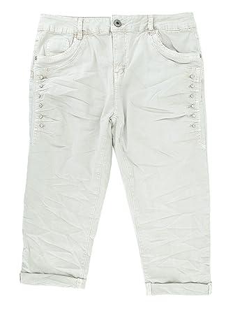 6980bc71e384 Damen Stretch Baggy Jeans Hose Glitzer Strass Pailletten Capri Shorts  Bermuda M L XL XXL 3XL 4XL