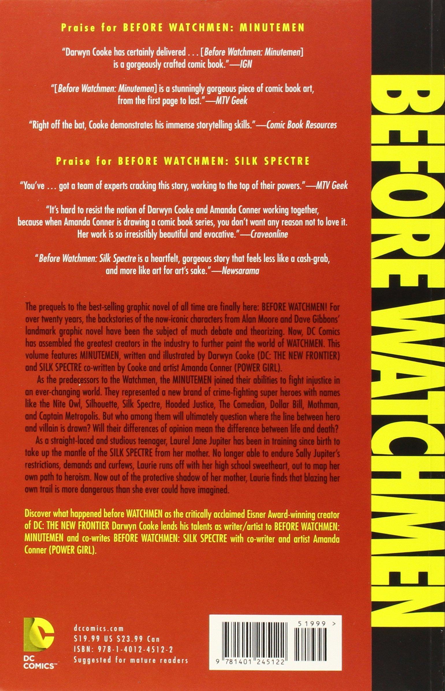Conners sales group red hat project - Amazon Com Before Watchmen Minutemen Silk Spectre 8601404766176 Darwyn Cooke Amanda Conner Books