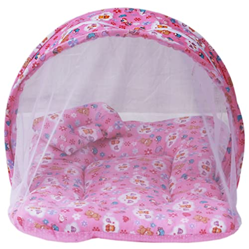 Amardeep and Co Toddler Mattress with Mosquito Net (Pink) - MT-01NP