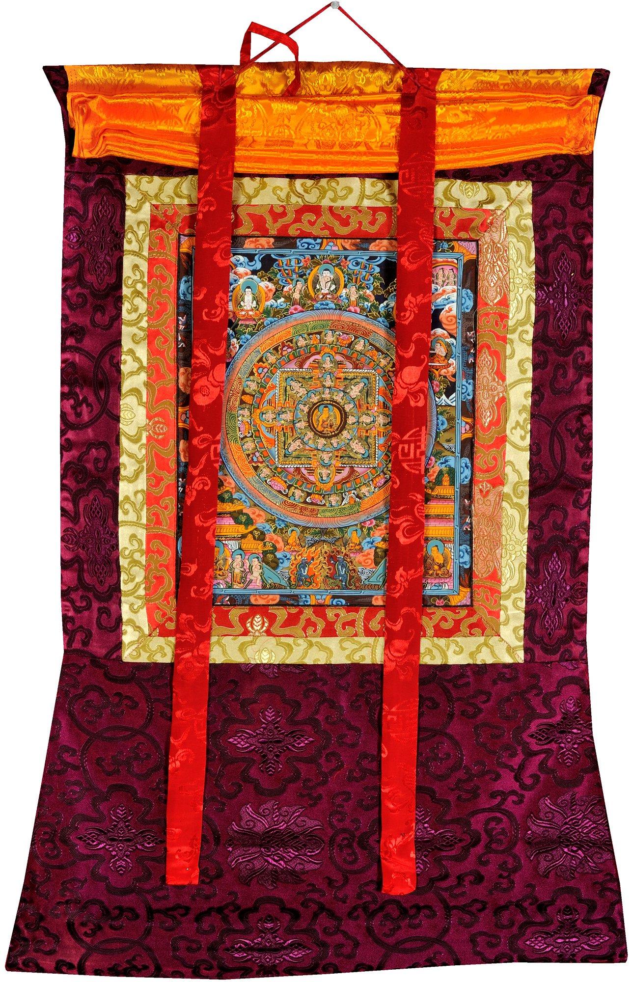 The Buddha Mandala -Tibetan Buddhist - Tibetan Thangka Painting by Exotic India (Image #2)