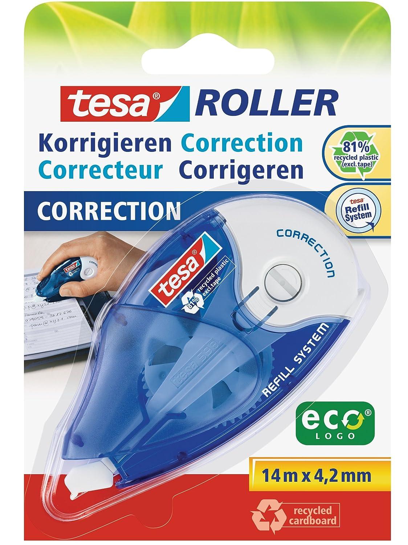 Tesa 59971-20BL Cinta correctora recargable, 14 m, 4,2 mm