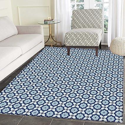 Amazoncom Moroccan Dining Room Home Bedroom Carpet Floor Mat - Ceramic tile star designs