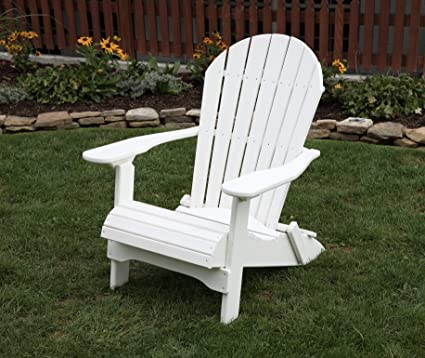 Superieur BRIGHT WHITE POLY LUMBER Folding Adirondack Chair With Rolled Seating Heavy  Duty EVERLASTING Lifetime PolyTuf