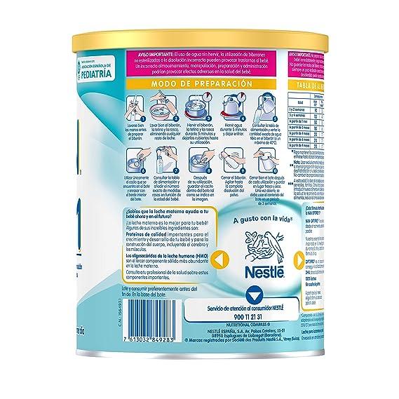 NAN OPTIPRO 1 - Desde el primer día - Leche para lactantes en polvo - Fórmula para bebé - 800g - Sin Aceite de Palma: Amazon.es: Alimentación y bebidas
