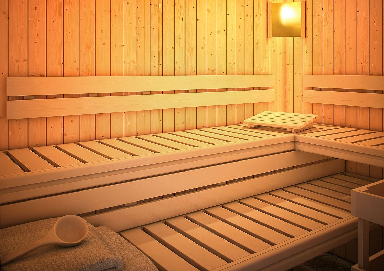 Karibu Sauna Rü ckenlehnen und Bankblenden Set 2 Premium Woodfeeling GmbH