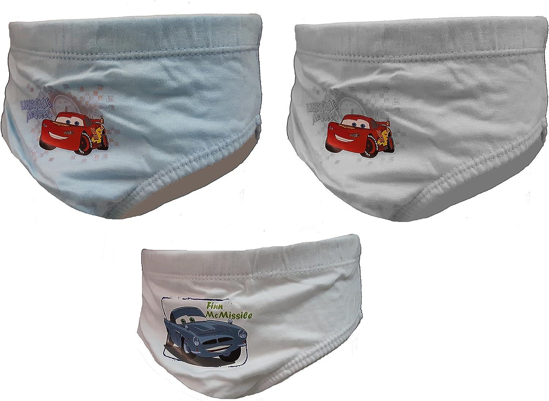 6 SLIP BIMBO CARS DISNEY SAETTA MCQUEEN PURO COTONE BAMBINO MUTANDINA WD13045