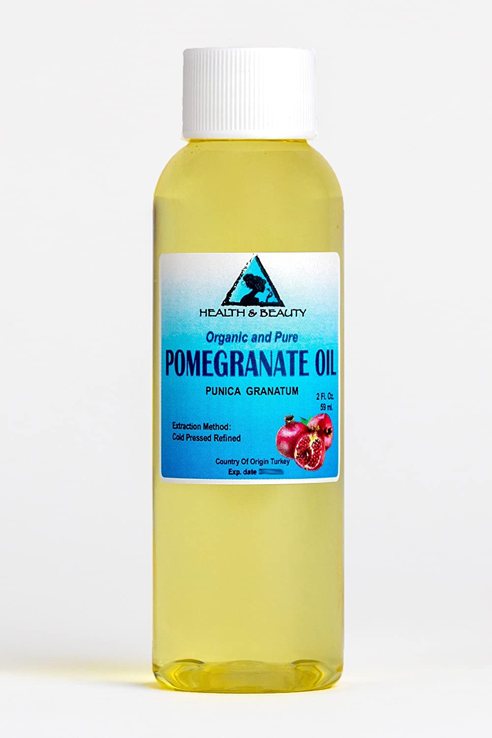 Pomegranate Seed Oil Refined Organic Carrier Cold Pressed Natural Fresh 100% Pure 2 oz, 59 ml H&B OILS CENTER Co.